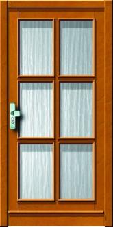 Haustür holz glas  Holzhaustueren mit Verglasung, Konstruktionstuer aus Holz ...